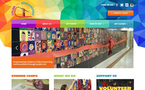 Screenshot of Home Page colormeempowered.org - Color Me Empowered - captured Nov. 5, 2018