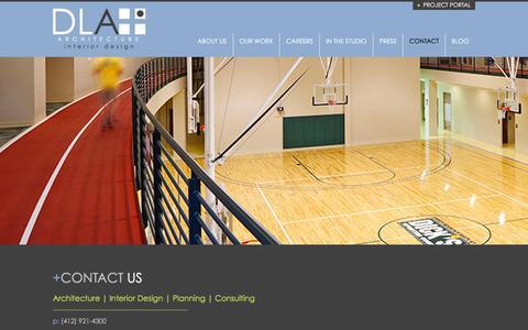 Screenshot of Contact Page dlaplus.com - Contact | DLA+ Architecture & Interior Design - captured Feb. 16, 2016