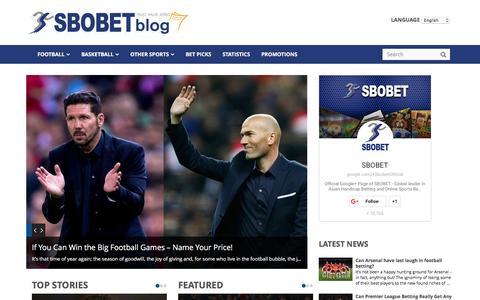 Screenshot of Blog sbobet.com - SBOBET   Betting Odds, Sports News, Bet Picks from SBOBET Blog - captured Dec. 17, 2015