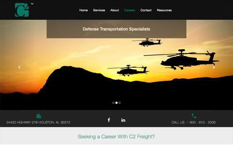 Screenshot of Jobs Page c2freight.com - C2 Freight | Careers - captured July 10, 2017