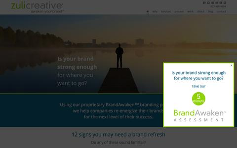 Screenshot of Home Page zulicreative.com - Branding San Diego   Zuli Creative - captured Feb. 13, 2016