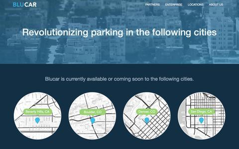 Screenshot of Locations Page blucar.com - Blucar | Locations - captured Nov. 14, 2015