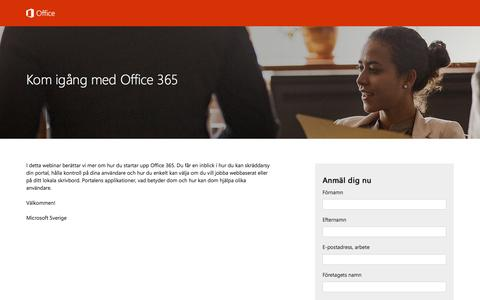 Screenshot of Landing Page office.com - Kom igång med Office 365 - captured Nov. 2, 2016