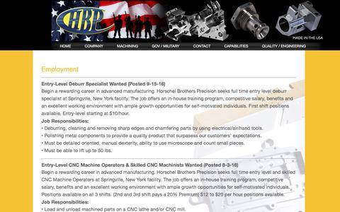 Screenshot of Jobs Page hbpllc.com - contact - captured Nov. 12, 2016