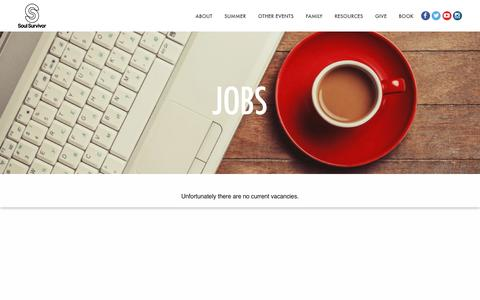 Screenshot of Jobs Page soulsurvivor.com - Jobs - Soul Survivor - captured Dec. 1, 2016