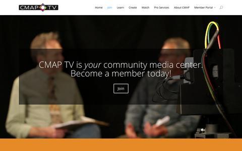 Screenshot of Signup Page cmaptv.com - Join   CMAP TV - captured Jan. 30, 2016