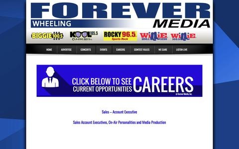 Screenshot of Jobs Page foreverwheeling.com - Work With Us | Wheeling - captured March 2, 2018