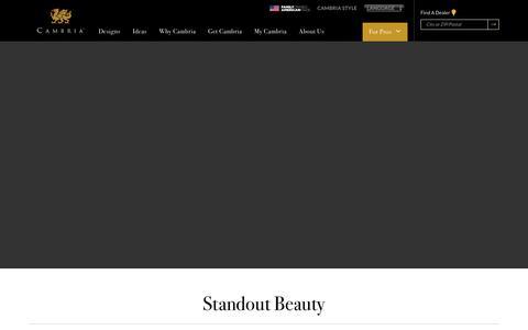 Screenshot of Home Page cambriausa.com - Cambria® - America's Finest Natural Stone Surfaces - Cambria® Natural Stone Surfaces - captured Dec. 12, 2018