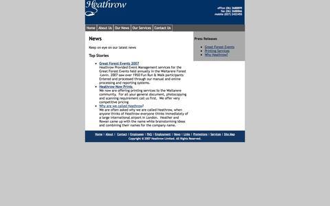 Screenshot of Press Page heathrow.co.nz - News - captured Sept. 30, 2014