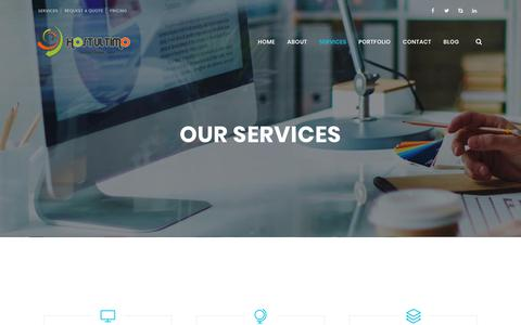 Screenshot of Services Page hostultimo.com - Services – Host Ultimo - captured Sept. 29, 2018