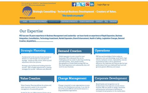 Screenshot of Services Page psestrategicconsultants.com - Services - captured Oct. 14, 2016