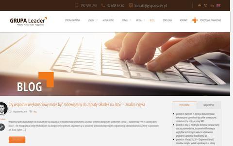 Screenshot of Blog Case Studies Page grupaleader.pl - Blog księgowość, podatki prawo - GRUPA LeaderGrupa Leader - captured Oct. 22, 2014