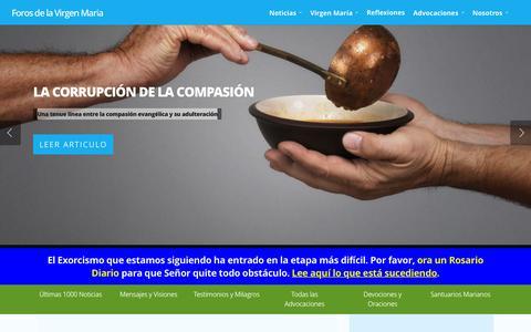 Screenshot of Home Page forosdelavirgen.org - Inicio » Foros de la Virgen María - captured Nov. 16, 2015