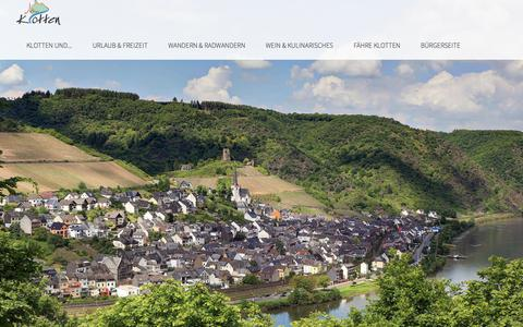 Screenshot of Home Page klotten.de - Home - Klotten - Mosel - captured June 5, 2018