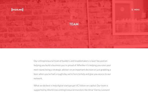 Screenshot of Team Page highline.vc - HIGHLINE Đ  Team - captured Dec. 15, 2015