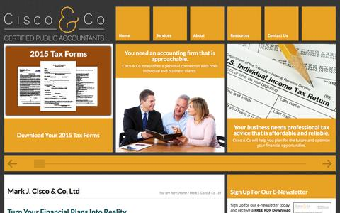 Screenshot of Home Page ciscocpa.com - Financial planning|Tax Accounting| Mark J. Cisco, CPA & Co. - captured Nov. 27, 2016