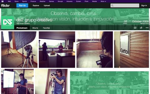 Screenshot of Flickr Page flickr.com - Flickr: DS2 Grupo Creativo's Photostream - captured Oct. 23, 2014