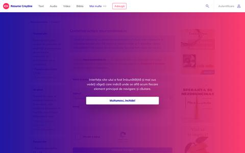 Screenshot of Contact Page resursecrestine.ro - Contact - Resurse Creștine - captured Nov. 15, 2018