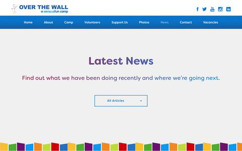 Screenshot of Press Page otw.org.uk - News - Over The WallOver The Wall - captured Oct. 19, 2018