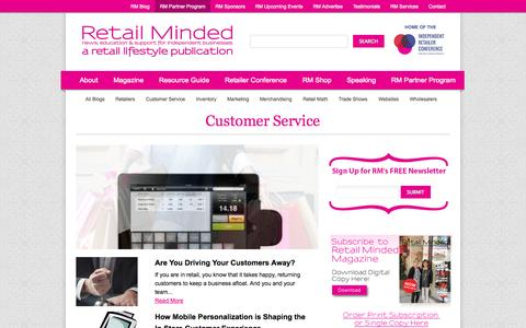 Screenshot of Support Page retailminded.com - Customer Service ‹ Retail Minded - captured Sept. 19, 2014