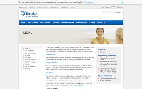 Legal - Experian UK and Ireland
