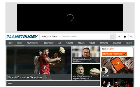 Screenshot of Press Page planetrugby.com - Posts Archive | Planetrugby.com : Planetrugby.com - captured Jan. 19, 2016