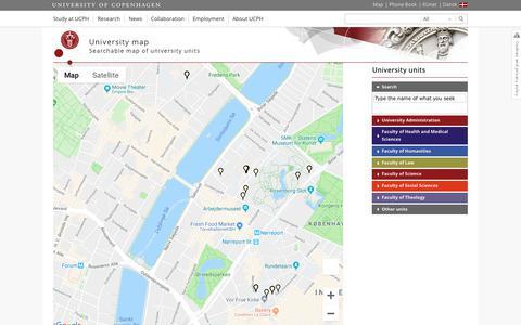 Screenshot of Maps & Directions Page ku.dk - University map – University of Copenhagen - captured Oct. 23, 2018