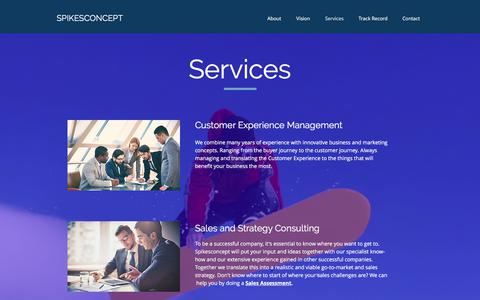 Screenshot of Services Page spikesconcept.nl - spikesconcept | Services - captured Nov. 14, 2017
