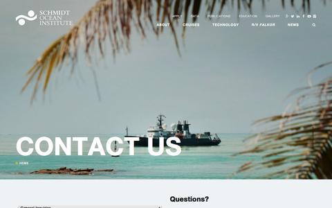 Screenshot of Contact Page schmidtocean.org - Contact Us - Schmidt Ocean Institute - captured Nov. 19, 2016