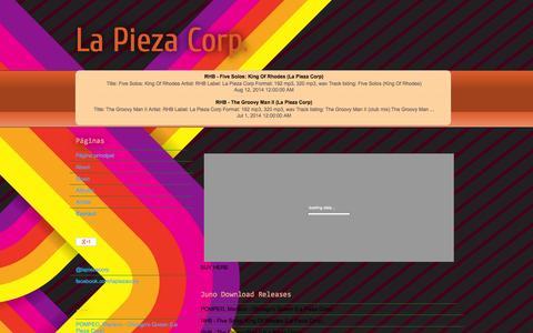 Screenshot of Contact Page lapiezacorp.blogspot.com - La Pieza Corp.: Contact - captured Sept. 30, 2014