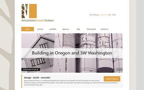 Screenshot of Home Page mountainwoodhomes.com - House Remodeling Beaverton | Home Renovations Beaverton - captured June 13, 2017
