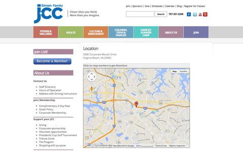 Screenshot of Maps & Directions Page simonfamilyj.org - Address with Driving Instructions  |  Simon Family JCC | Closer than you think. More than you imagine. - captured Oct. 26, 2014