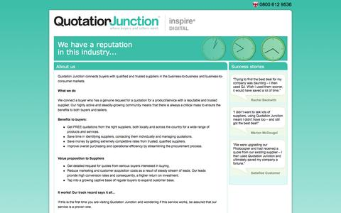 Screenshot of About Page quotationjunction.com - About Us - Quotation  Junction - captured Dec. 15, 2015