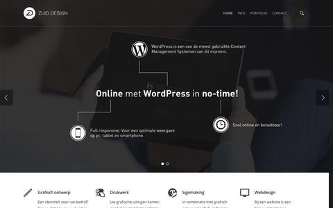 Screenshot of Home Page zuiddesign.nl - Zuid Design - captured Jan. 10, 2016