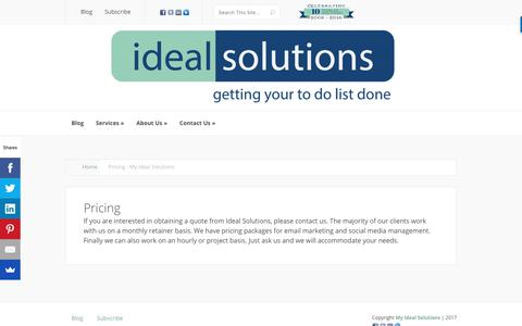 Screenshot of Pricing Page myidealsolutions.com - Pricing - My Ideal Solutions - captured Nov. 1, 2017
