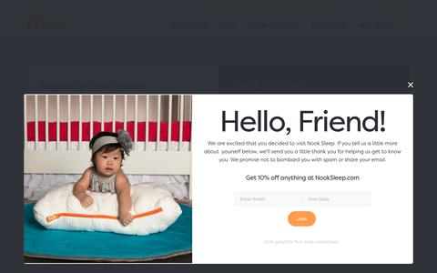Screenshot of Login Page nooksleep.com - Nook Sleep: Beautiful, Healthy Products for Baby and Home | Nook Sleep Systems - captured July 13, 2018