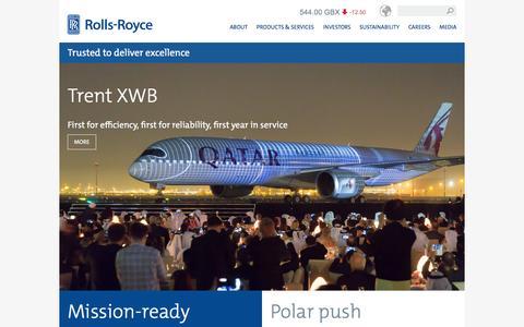 Screenshot of Home Page rolls-royce.com - Rolls-Royce - captured Jan. 15, 2016