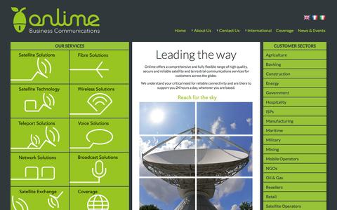 Screenshot of Home Page onlime.com - Onlime Business Communications - Leading the way - captured Oct. 9, 2014