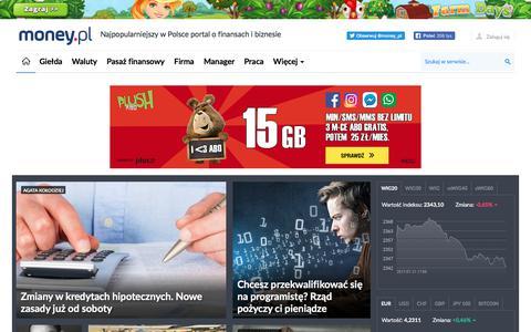 money.pl - portal finansowy - wiadomości, notowania, kursy, wskaźniki, giełdy, fundusze, emerytury, podatki