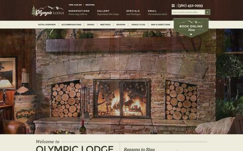 Screenshot of Home Page olympiclodge.com - Port Angeles Hotels | Olympic Lodge | Port Angeles, Washington - captured Sept. 30, 2014