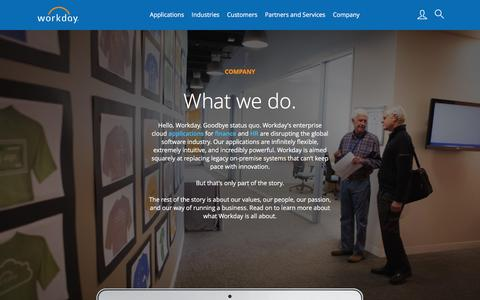 Workday—The Enterprise Cloud for Finance and HR