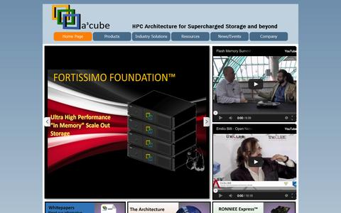 Screenshot of Home Page a3cube-inc.com - Home Page - A3CUBE INC : Breaking through the computer I/O barrier - captured Sept. 30, 2014