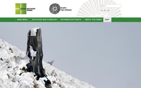 Screenshot of Maps & Directions Page pnr-gp.ch - Parc naturel régional Gruyère Pays-d'Enhaut - Map - captured Sept. 24, 2018