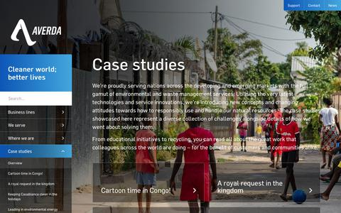 Screenshot of Case Studies Page averda.com - Case studies - Averda - captured Nov. 23, 2019