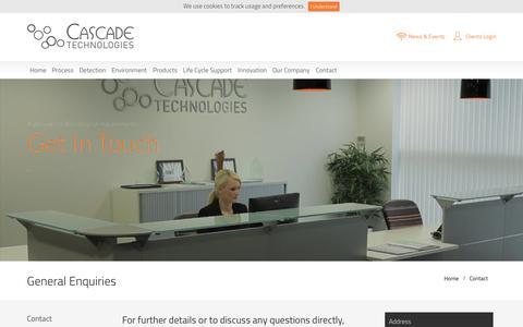 Screenshot of Contact Page cascade-technologies.com - Cascade Technologies - captured July 3, 2015