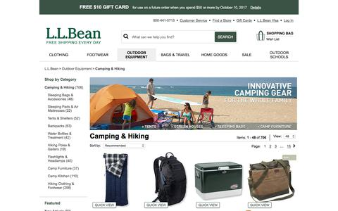 Camping Gear from L.L.Bean