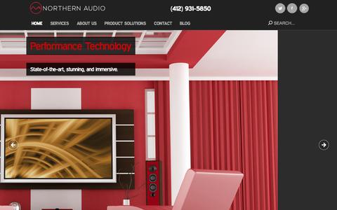 Screenshot of Home Page nax.com - Home Theater Installation Experts | Northern Audio - captured Sept. 1, 2015