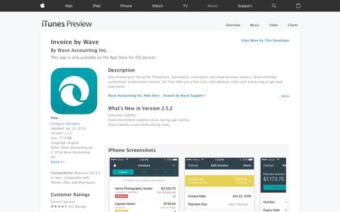 Invoice by Wave on the App Store