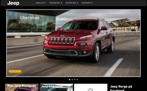 Screenshot of Home Page jeep.no - Jeep.no - captured Oct. 12, 2015