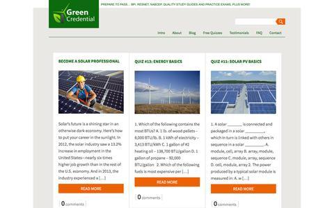 Screenshot of Blog greencredential.com - Blog 2   Green Credential - captured Dec. 14, 2015
